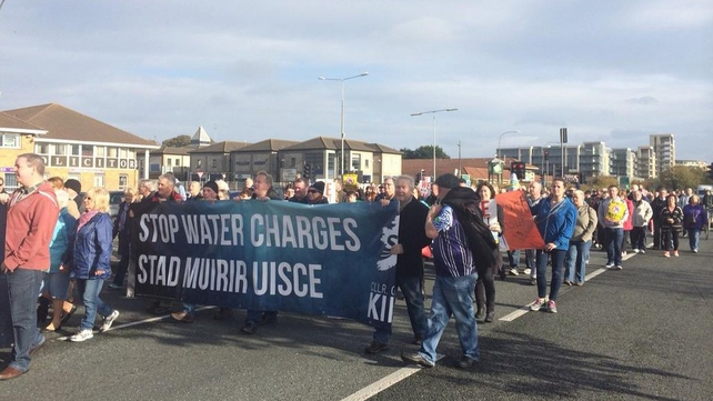 More than 20 protests are taking place in Dublin, including in Tallaght this morning (Pic: Lisa Jewell)