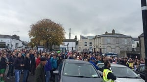Crowds gathered in Blessington in Co Wicklow (Pic: Rob Walsh)