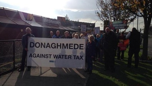 A crowd of around 400 people turned up in Donaghmede in Dublin