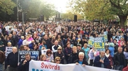 Organisers said 4,000 people attended the march in Swords, Co Dublin