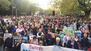 Organisers said there were 4,000 people in Swords (Pic: Rory James O'Neill)