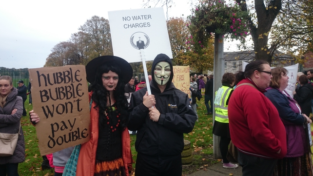 Thousands of people have turned out across the country to protest against water charges