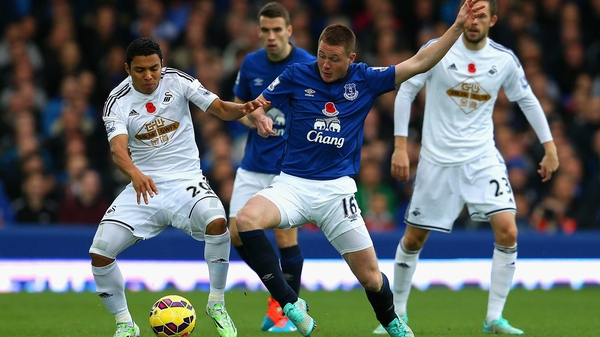 James McCarthy in action for the Toffees