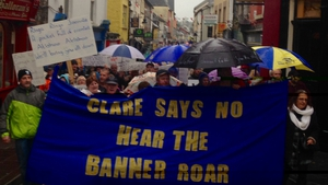 Almost 2,500 people have taken to the streets of Clare in protest against water charges