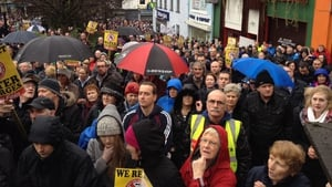 Anti-water charges protesters fill the streets of Letterkenny, Co Donegal