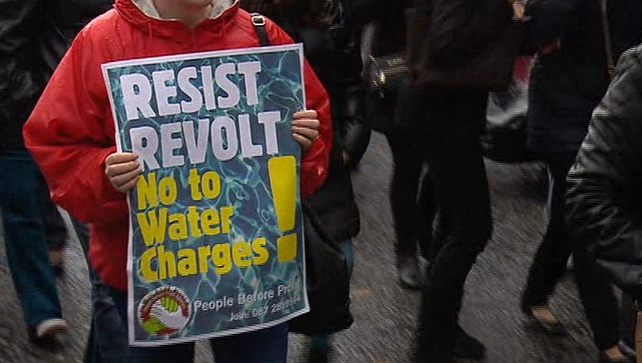 There were protests against water charges around the country on Saturday