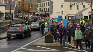 Demonstrators snaked their way through Ballyshannon, Co Donegal