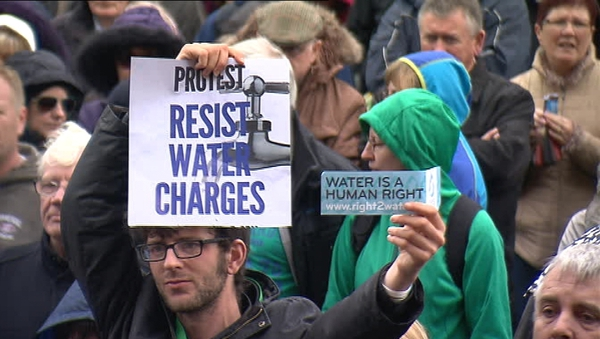 There has been big resistance to the introduction of water charges
