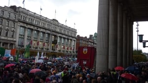 About 10,000 people gathered to protest at the GPO on O'Connell Street (Pic: Daniel Meyer)