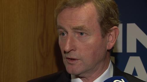Enda Kenny was speaking at the Fine Gael Presidential Dinner