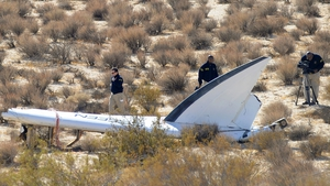 Officials from the NTSB are examining the wreckage of Virgin Galactic's SpaceShipTwo