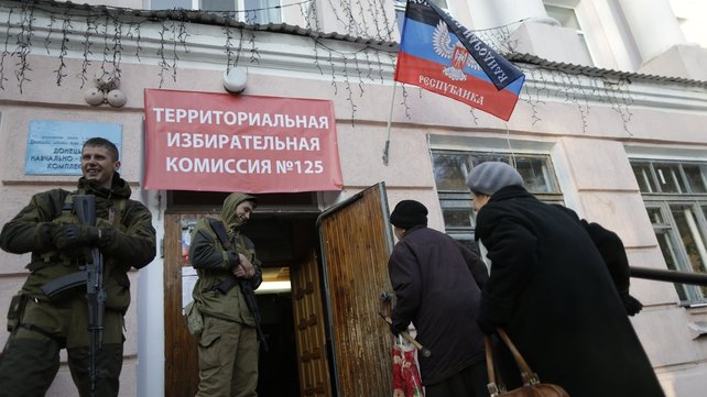 The elections are based around the two main rebel-held cities of Donetsk and Lugansk