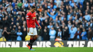 Smalling received two yellow cards in the space of eight first-half minutes
