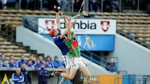 Noel McGrath battles with Denis Maher of Thurles Sarsfields