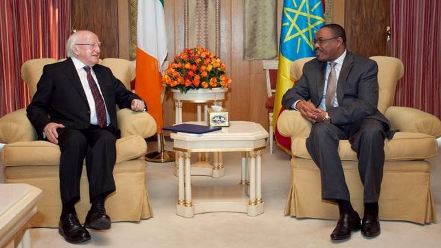 Three bilateral treaties were signed between Ireland and Ethiopia