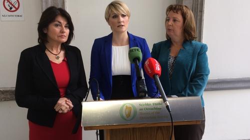 Senators Fidelma Healy Eames, Averil Power, and Jillian Van Turnhout launched the bill