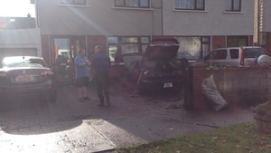 The Lawlor family in Clondalkin are cleaning up the damage caused by the burst water main
