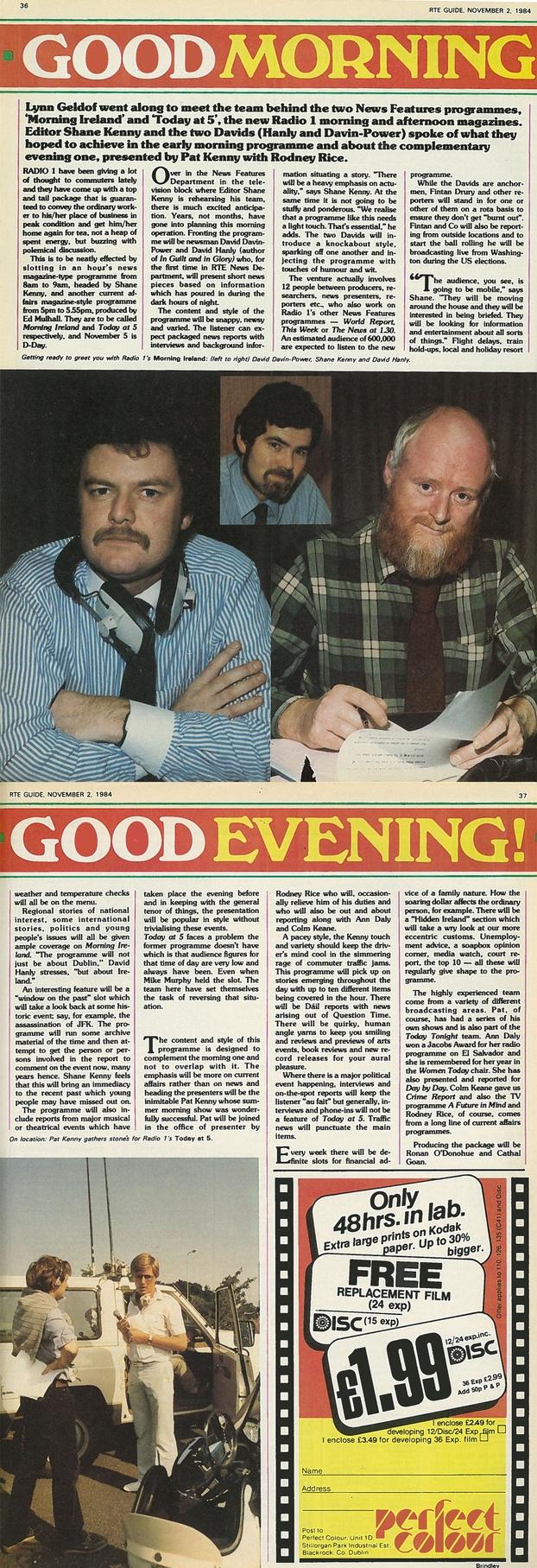 Morning Ireland RTÉ Guide 02/11/1984