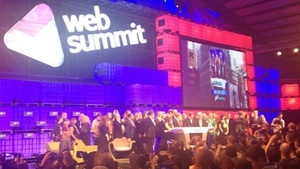 A packed stage for the opening NASDAQ bell at the RDS
