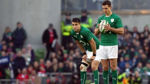 Conor Murray and Jonathan Sexton in action for Ireland
