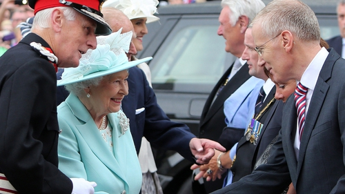 Gregory Campbell (right), seen here meeting Britain's Queen Elizabeth in June, has refused to apologise for his remarks