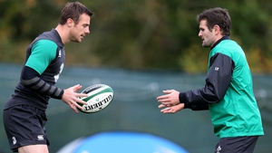 Tommy Bowe, seen here with Jared Payne, said Ireland had trained with 'a huge intensity'