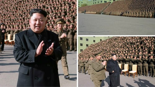 These images were released of Kim Jong-Un without a stick