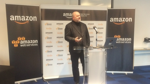 Amazon CTO Dr Werner Vogels announced the 300 jobs in Dublin this morning