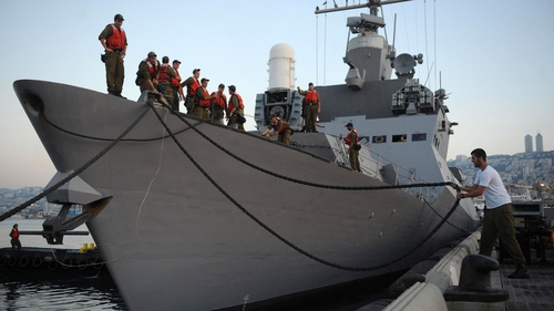 Ten Turkish activists died following the interception of the flotilla by Israeli commandos