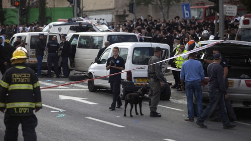 Palestinian man rammed his car into a group of pedestrians in Jerusalem on Wednesday
