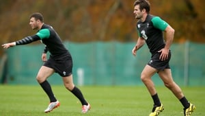 Robbie Henshaw (L) and Jared Payne (R) start at centre for Ireland against South Africa