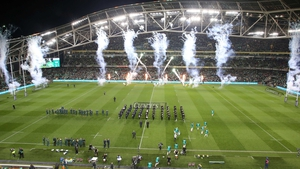 A full house greeted the sides at Lansdowne Road