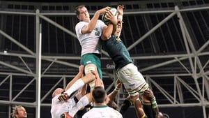 Devin Toner competes for a line-out