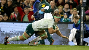 Try for Ireland! Rhys Ruddock was not even in the original starting team but illness forced Chris Henry out