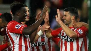 Shane Long scored twice as Southampton beat Leicester