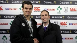 Jonathan Sexton was named Man of the Match after a commanding performance
