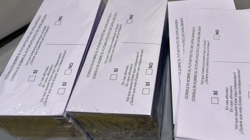 The ballot papers will put two questions to voters