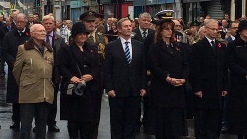 Enda Kenny was in Enniskillen to remember the war dead
