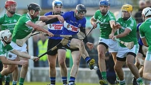 Eoin Quigley of Sarsfields scores the opening goal