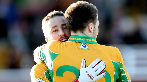 Michael Lundy scored a hat-trick for Corofin