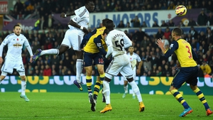 Bafetimbi Gomis headed home Swansea's winner