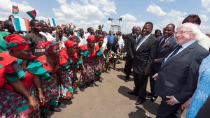 This evening the president attended a dinner hosted by the president of Malawi, Peter Mutharika