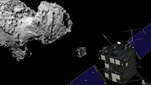 Rosetta hit the comet's surface at around 11.40am Irish time