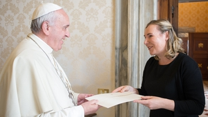 Emma Madigan presented her credentials to Pope Francis this afternoon
