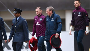 Wayne Rooney and Roy Hodgson pictured at the FA's National Football Centre at St George's Park on Armistice Day