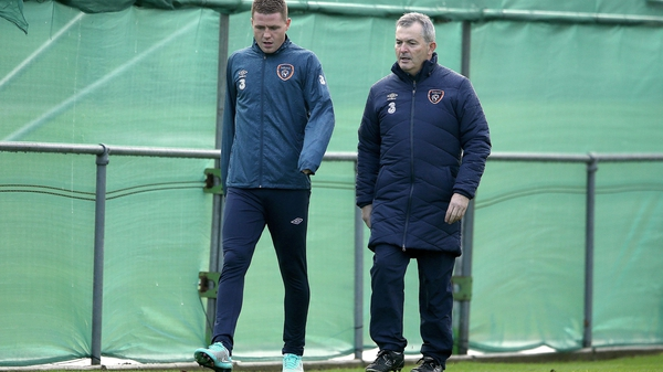 James McCarthy sits out training with team doctor Alan Byrne