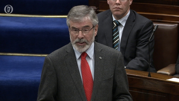 Gerry Adams said he believed Máiría Cahill was abused but rejected claims of a cover-up