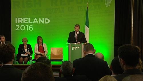 Taoiseach Enda Kenny launched Ireland 2016 last night