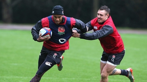 Anthony Watson (left) will make his first England start against South Africa