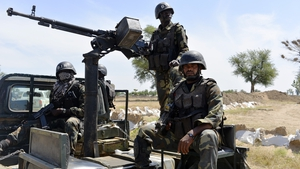 Soldiers patrol Nigerian border where Boko Haram have carried out fatal attacks in recent weeks